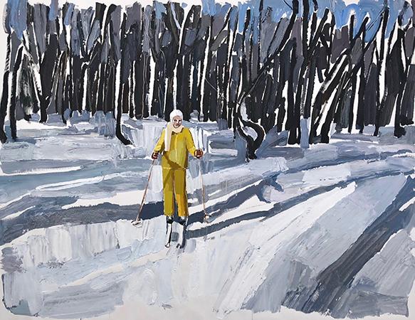 Yellow Skier