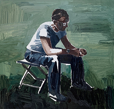 Seated Man in Shadow