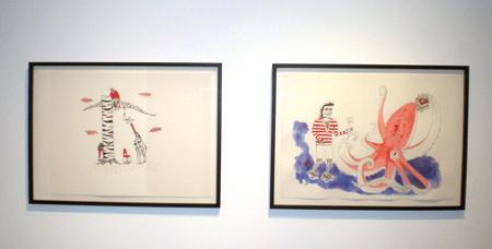 Installation View of Seamus Heidenreich 'Try Try Again', 2009 & 'Liquid Swords', 2009