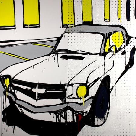 White 1964 Mustang