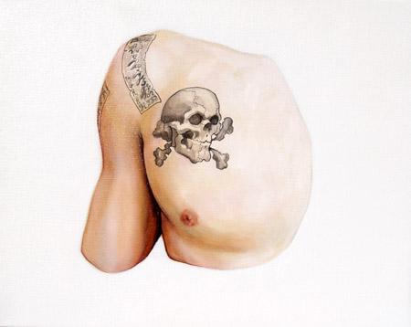 Skull on Toru of Guitar Wolf