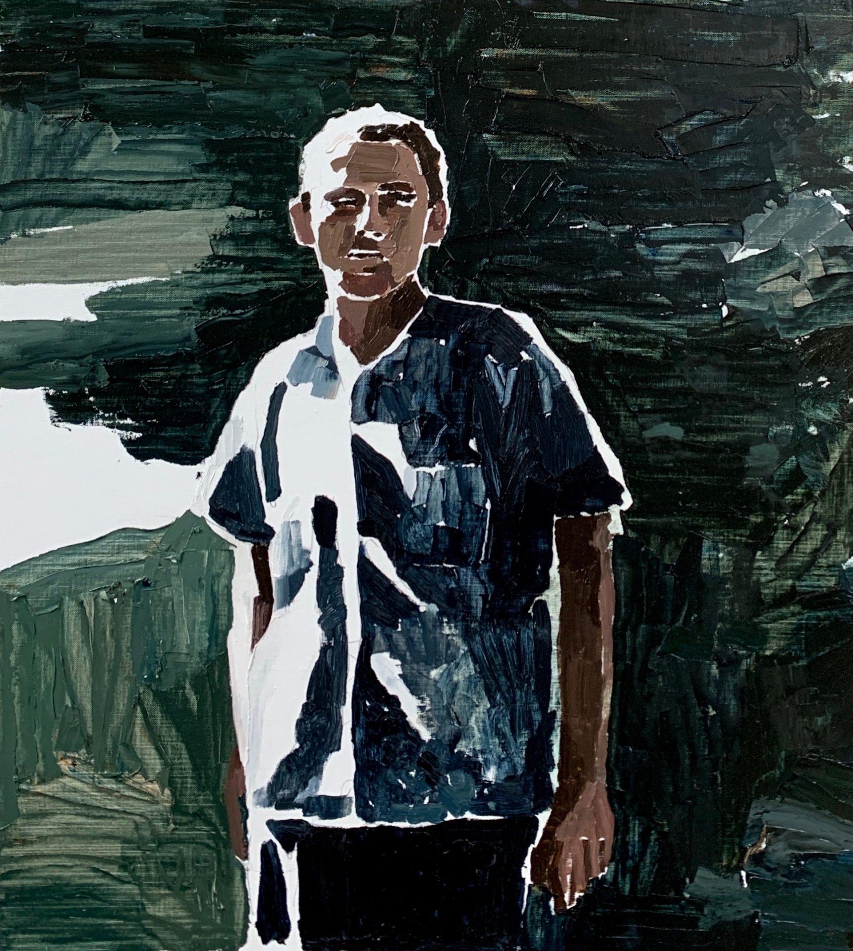 Man and Green Shadows